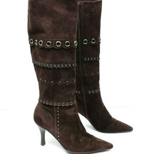 Antonio Melani Suede Leather Knee High 6.5